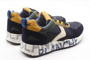 Voile Blanche Sneaker in Suede e tessuto tecnico blu