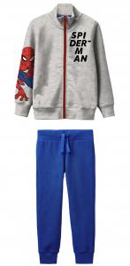 Tuta Spiderman bambino 3 4 5 6 7 anni Interno felpato colore grigio