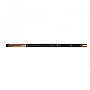 Pennello N.5 Professionale Con Calamita per colorazione sopracciglia con henné e tinte, taglio dritto. MAXYMOVA