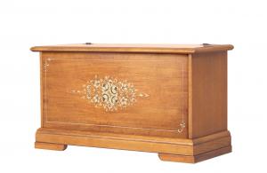 Arcón de madera decorado a mano - Colección Fleur