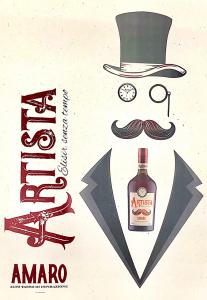 Amaro Artista - Elisir Senza Tempo cl. 70 - Confezione regalo con bicchieri degustazione