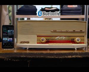 Mivar Samo bianca radio vintage originale 1959 trasformata bluetooth