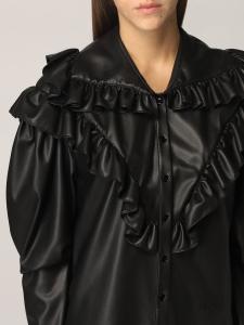 Camicia nera con ruches Philosophy di Lorenzo Serafini