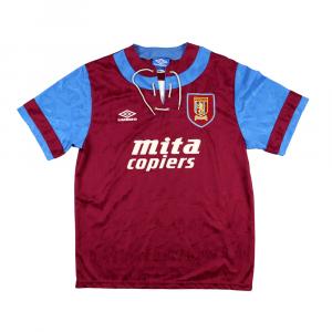 1992-93 Aston Villa Maglia Home L (Top)