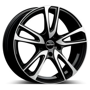 Cerchi in lega  GMP Italia  Astral  17''  Width 7   5x100  ET 43  CB 57,1 O.E. VW    Black Diamond