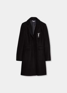 LIU JO  WF1121T4612 Cappotto con spilla gioiello