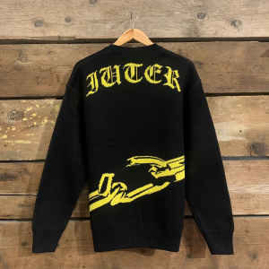 Maglione Iuter Chain Jumper Nero e Giallo