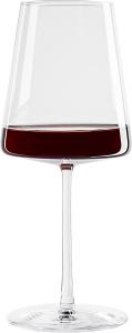 Set di 6 calici da vino rosso Power 520 ml, in cristallo senza piombo