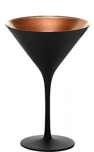 Set di 6 bicchieri da cocktail in bronzo nero 240 ml