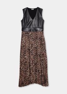 LIU JO   WF1024T0414 Vestito lungo plissettato con borchie