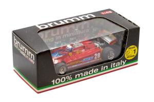 Ferrari 126Ck Turbo Kkk 1981 Gp Usa 28 + 1 Pilot - 1/43 Brumm 100% Made In Italy
