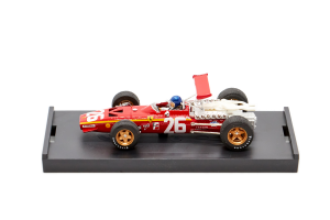 Ferrari 312 F1 Gp Francia 1968 1° Jacky Ickx #26 + Pilota - 1/43 Brumm 100% Made In Italy