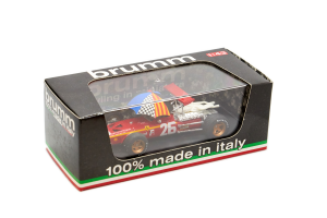 Ferrari 312 F1 Gp Francia 1968 1° Jacky Ickx #26 + Pilota + Ombrello - 1/43 Brumm 100% Made In Italy