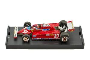 Ferrari 126 Ck Turbo Gp Italia 1981 G. Villeneuve #27 + Pilot - 1/43 Brumm 100% Made In Italy