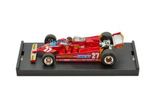 Ferrari 126 Ck Turbo Gp Usa Ovest Long Beach 1981 Villeneuve #27 - 1/43 Brumm 100% Made In Italy