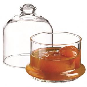 Scatola in vetro trasparente con cupola 22 CL, porta marmellata, bonbon, confett,i caramelle