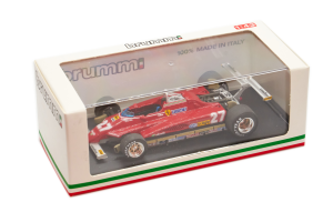 Ferrari 126 C2 West Usa Gp Long Beach 1982 Gilles Villeneuve - 1/43 Brumm 100% Made In Italy