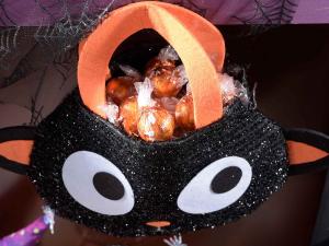 Borsetta in stoffa glitterata a personaggio Halloween