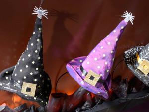 Cerchietto Halloween con cappello e ragnetto argento