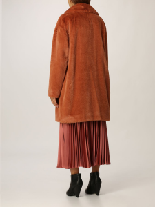 SHOPPING ON LINE TWINSET MILANO CAPPOTTO ECO-MONTONE NEW COLLECTION PREVIEW FALL WINTER 2022-2