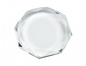 Fermacarte vetro bianco diamante