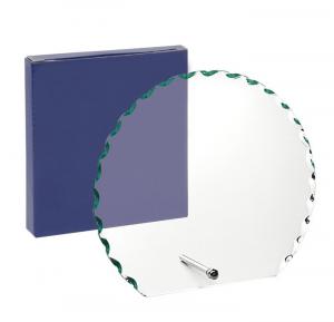Trofeo in vetro con supporto forma circolare