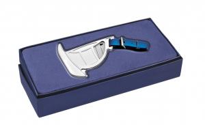 Targhetta per valigia barca a vela in silver plated