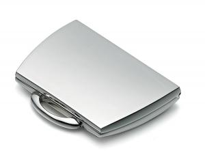 Specchietto borsetta argentato argento