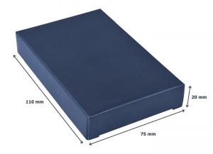 Portabiglietti silicone blu