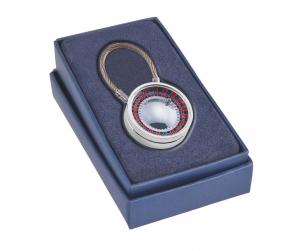 Portachiavi con roulette argentata argento
