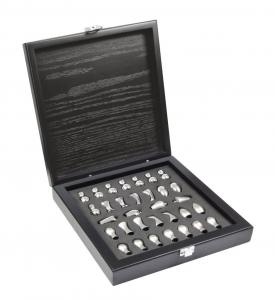 Scacchi style lux box legno in silver plated