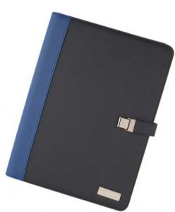 Portablocco a4 blu nero con targhetta