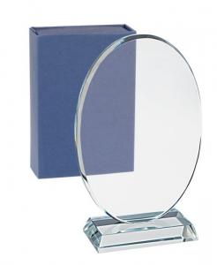 Trofeo ovale in vetro