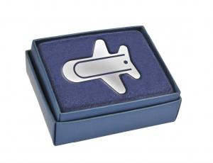 Segnalibro aereo silver plated