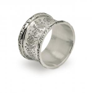 Legatovagliolo 6 pz con scatola stile cesellato argentato argento sheffield