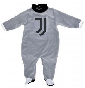 Tutina in ciniglia Juventus neonato grigio da 1 a 12 mesi autunno inverno 2021 2022