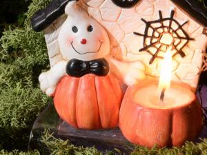 Decorazione Halloween con candela