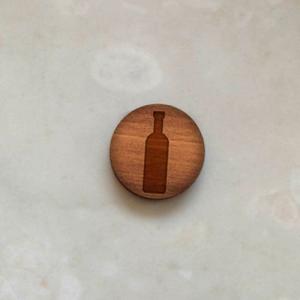 Gemelli da polso in legno noce BOTTIGLIA+BICCHIERE