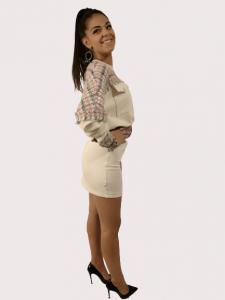 Vestito abito corto   colore Beige   Marca Jijil