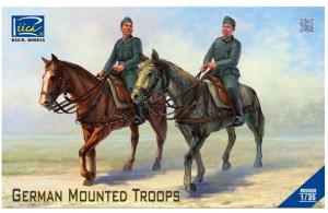 set di due soldati tedeschi WWII a cavallo