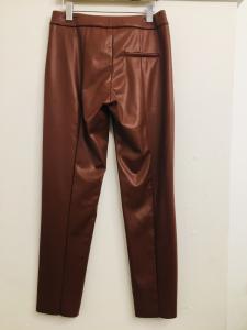 Pantalone donna| pantalone ecopelle| bordeaux| con con taschino| made in italy