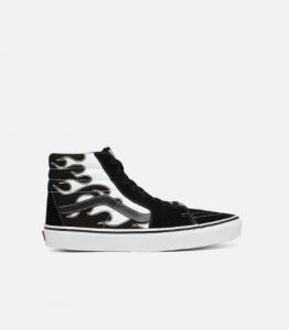 Vans Sk8-Hi Flame Black White