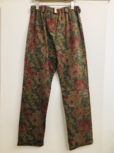 Pantalone donna| in cotone| motivo floreale| con elastico in vita| made in Italy