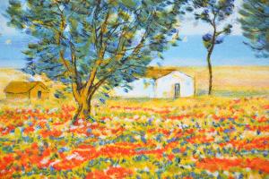 Cascella Michele Serigrafia Formato cm 60x80