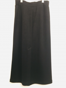 Gonna| gonna a tubino| in maglia rasata| nera| elastico in vita| con spacco sul retro| made in Italy