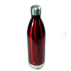 Bottiglia termica 750ml in acciaio rosso