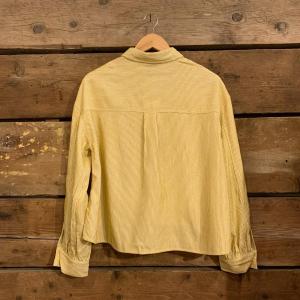 Camicia Frnch Califa in Velluto a Costine Giallo Pastello