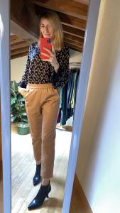Pantalone morbido ecopelle Vicolo