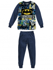 Pigiama Batman in felpa da 3 a 7 anni Inverno 2022