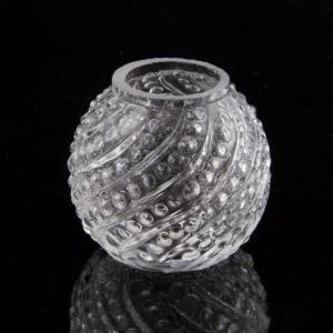 Infilaggio a sfera in vetro cristallo Ø4 cm, ricambio per lampadari stile Maria Teresa